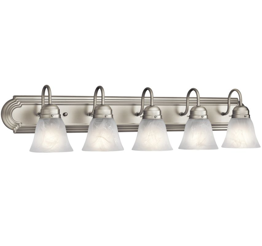 "Kichler 5339 5 Light 36"" Wide Vanity Light Bathroom Fixture Brushed"
