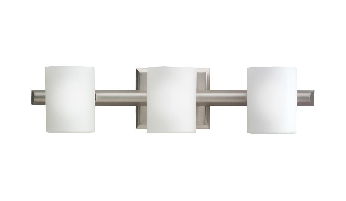 "Kichler 5967 Tubes 21"" Wide 3-Bulb Bathroom Lighting Fixture Brushed"
