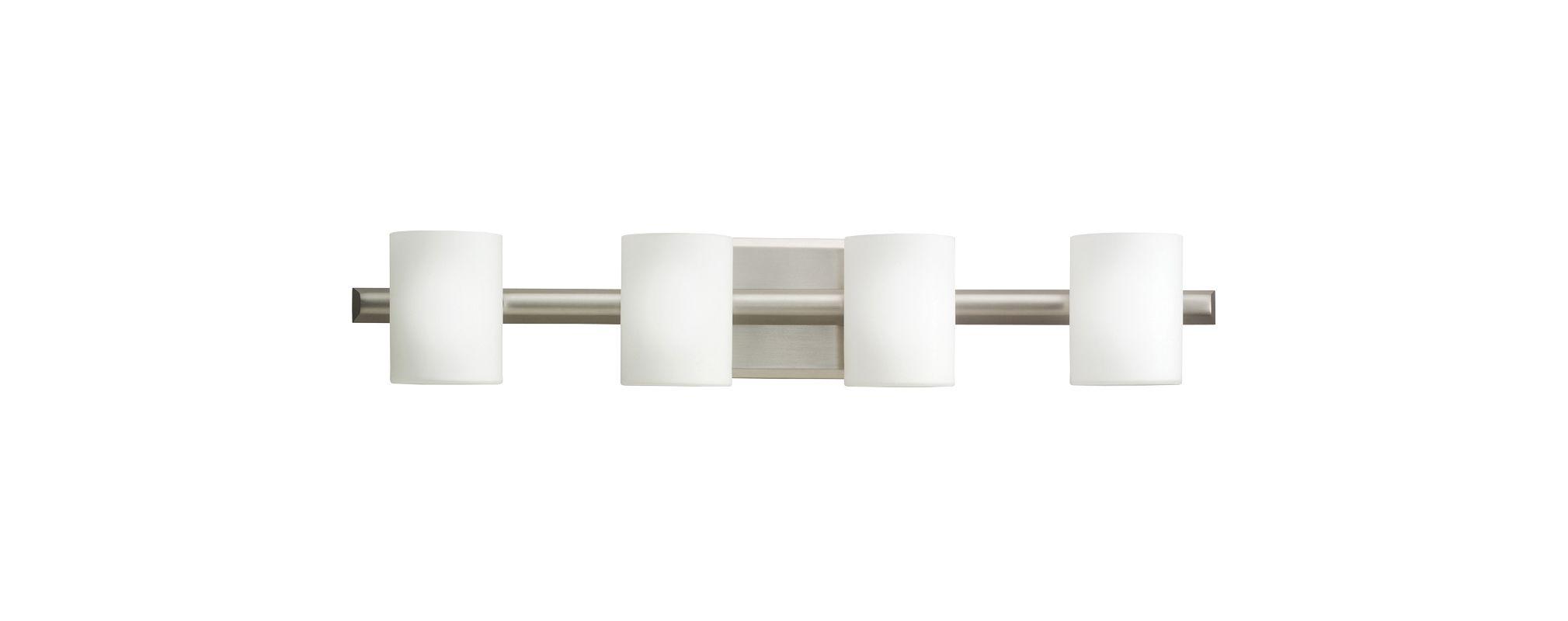 "Kichler 5968 Tubes 28"" Wide 4-Bulb Bathroom Lighting Fixture Brushed"