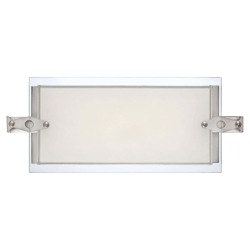 Kovacs P1120-084-L Nickel Contemporary Cuff Link Bathroom Light