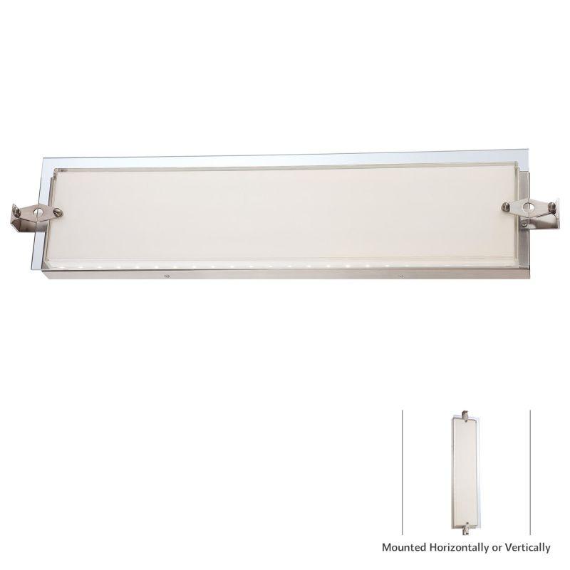 Kovacs P1123-084-L Nickel Contemporary Cuff Link Bathroom Light