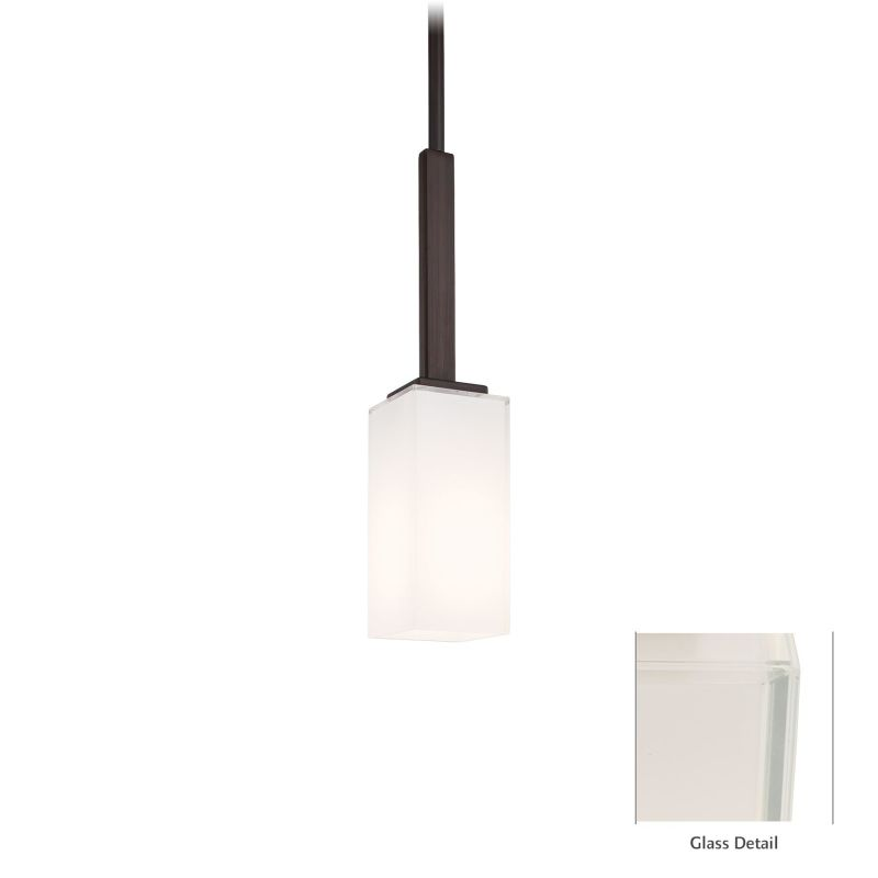 "Kovacs P1701-647 1 Light 15"" High Mini Pendant with White Mitered"