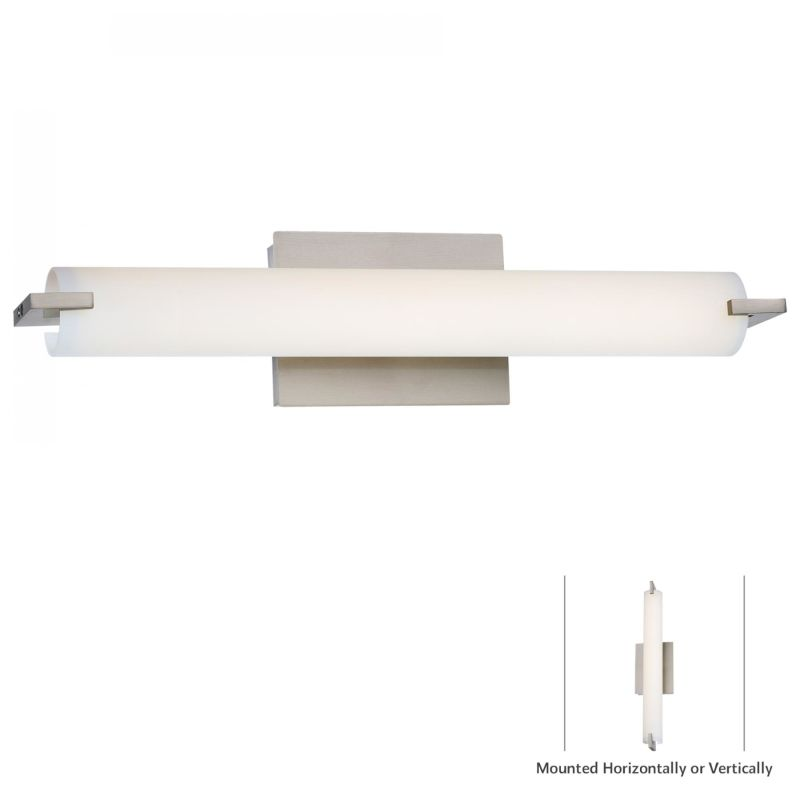 Kovacs P5044-084-L Brushed Nickel Contemporary Tube Wall Sconce