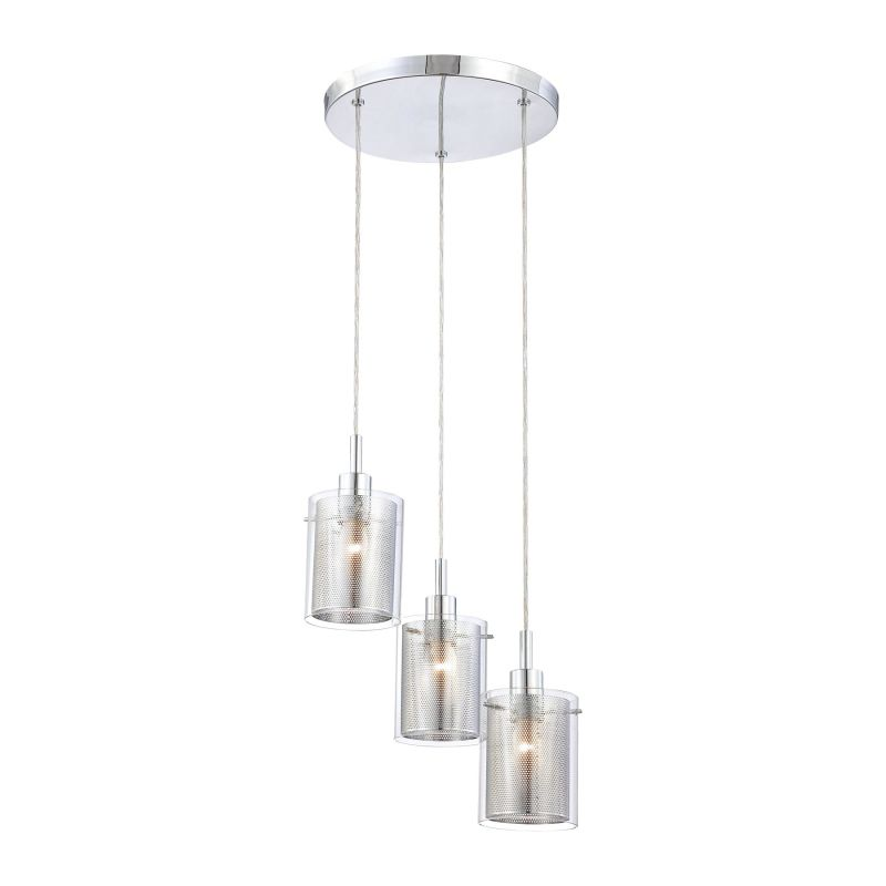 Kovacs P963-077 Chrome Contemporary Grid II Pendant