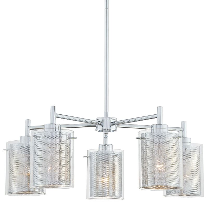 Kovacs P965-077 Chrome Contemporary Grid II Chandelier