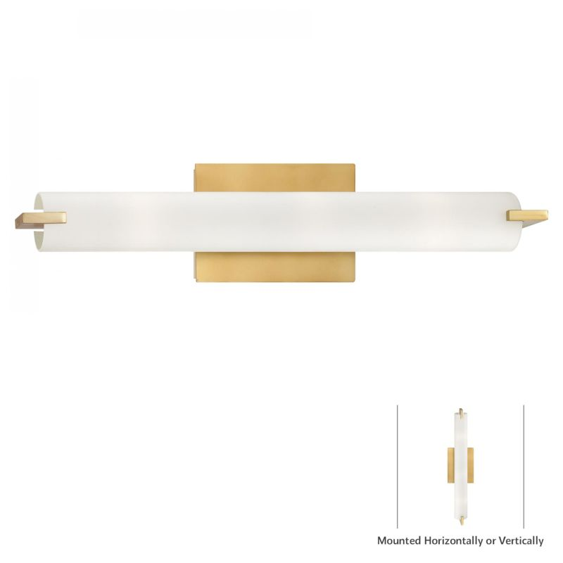 Kovacs P5044-248 Honey Gold Contemporary Tube Wall Sconce