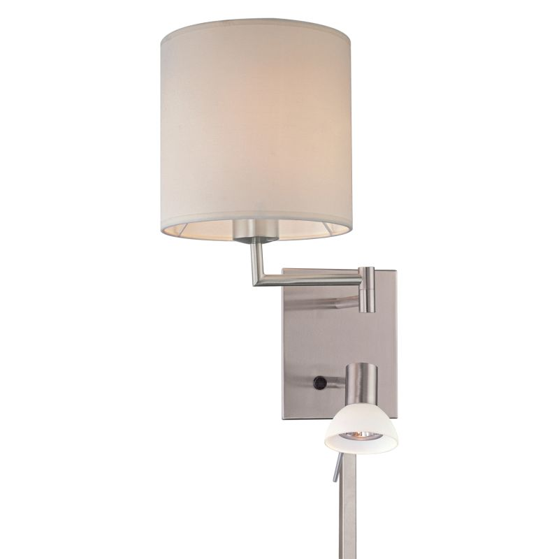 """Kovacs GK P1050 1 Light 16"""" Height Plug In Wall Sconce in Brushed"""