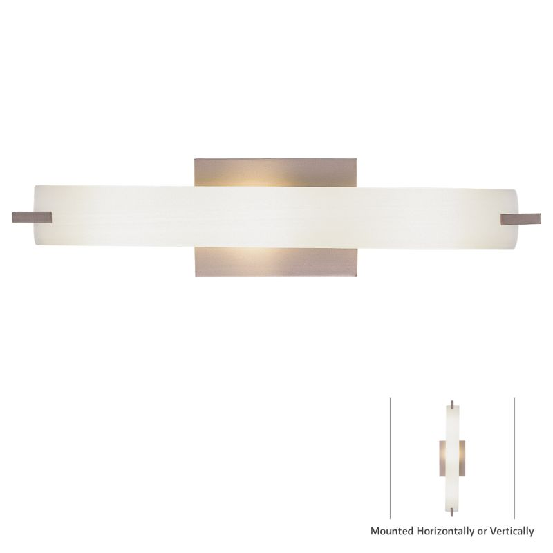 Kovacs P5044-084 Brushed Nickel Contemporary Tube Bathroom Light