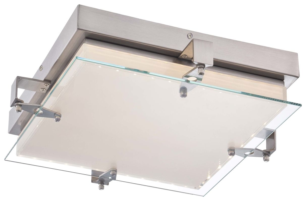 Kovacs P1121-084-L Brushed Nickel Contemporary Cuff Link Ceiling Light Sale $200.00 ITEM: bci2227850 ID#:P1121-084-L UPC: 844349013877 :