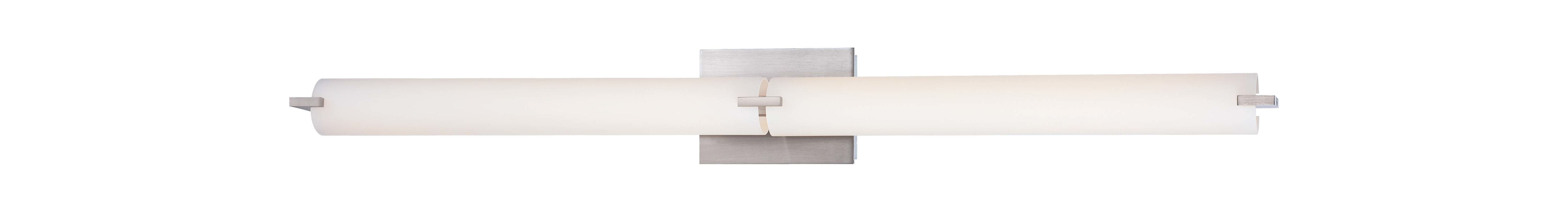 Kovacs P5046-084-L Brushed Nickel Contemporary Tube Bathroom Light