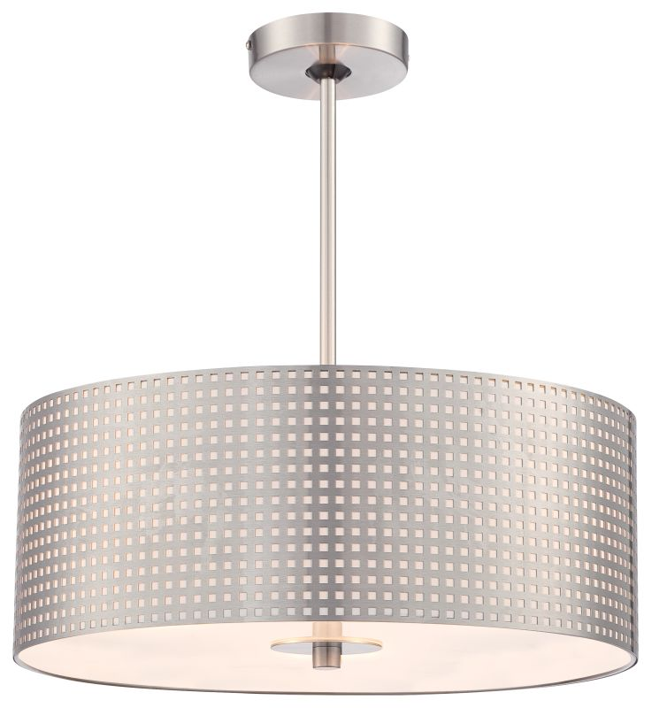 Kovacs P5743-084 3 Light Pendant from the Grid Collection Brushed