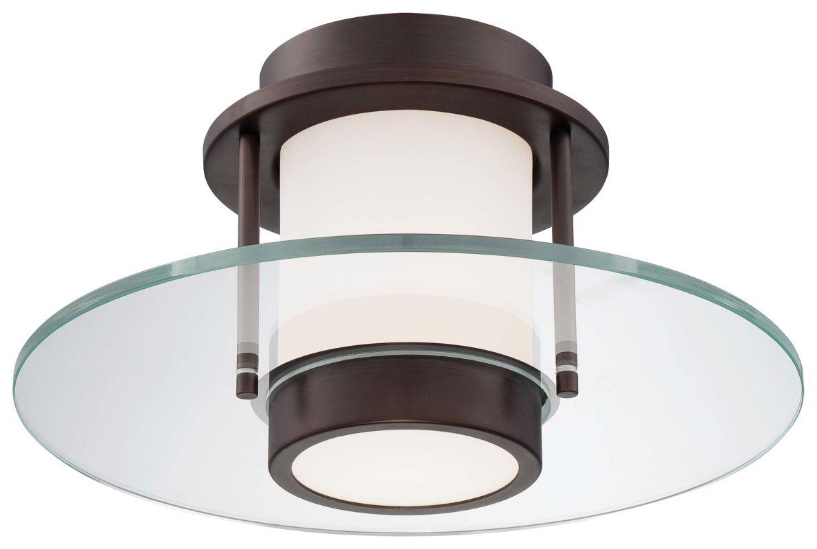 Kovacs P854-647 Copper Bronze Patina Contemporary Ceiling Light