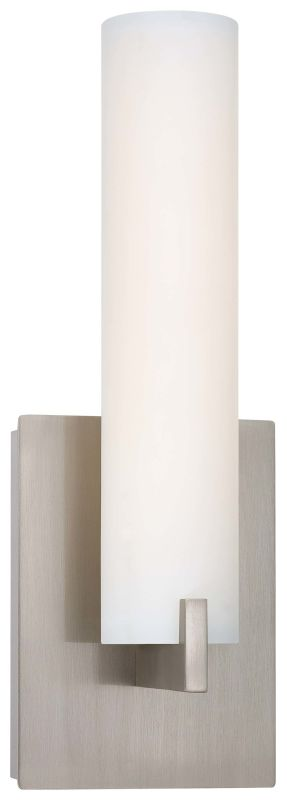 Kovacs P5040-084-L Brushed Nickel Contemporary Tube Wall Sconce
