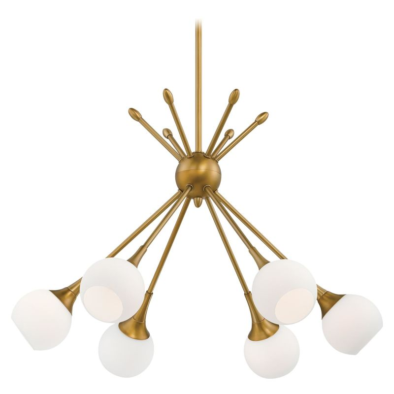 Kovacs P1806-248 6 Light 1 Tier Chandelier in Honey Gold from the
