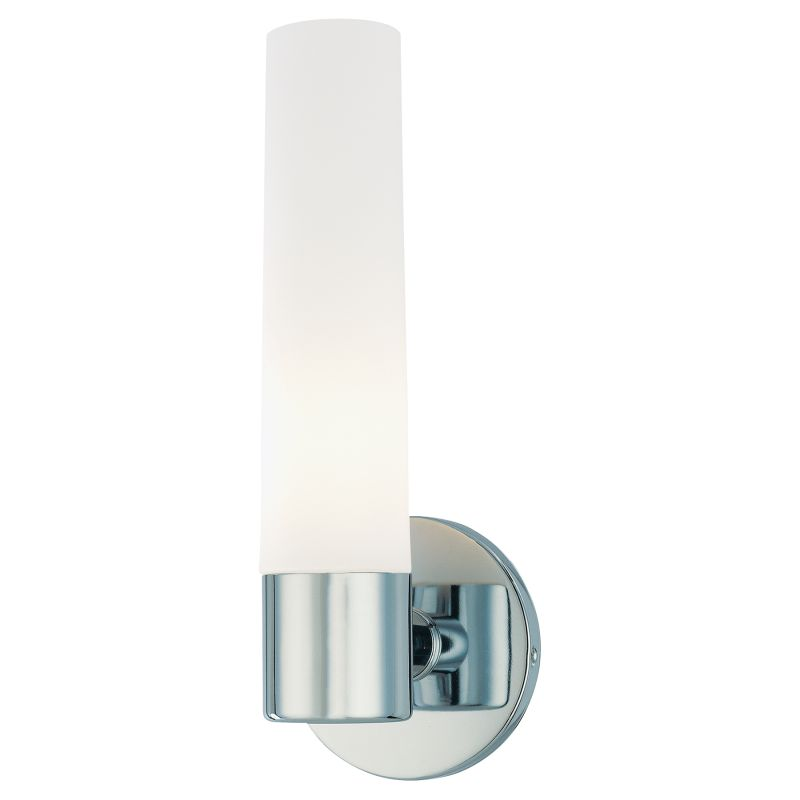 "Kovacs P5041-077 1 Light 4.75"" Width Bathroom Sconce in Chrome from"