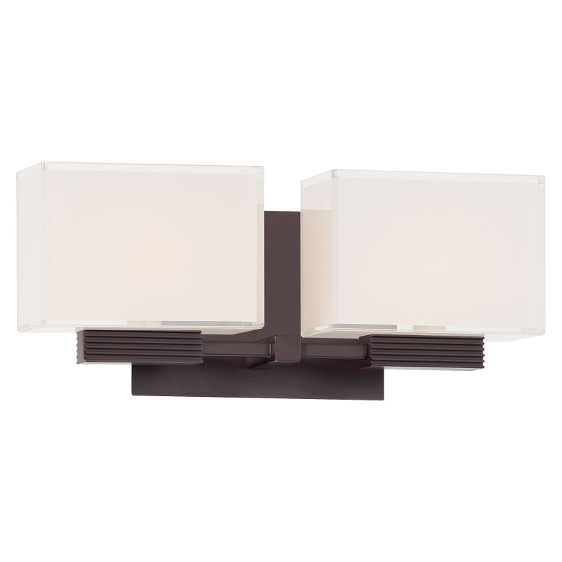 Kovacs P5212-615B Dorian Bronze Contemporary Cubism Bathroom Light