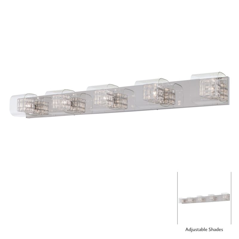 Kovacs P5805-077 Chrome Contemporary Jewel Box Bathroom Light