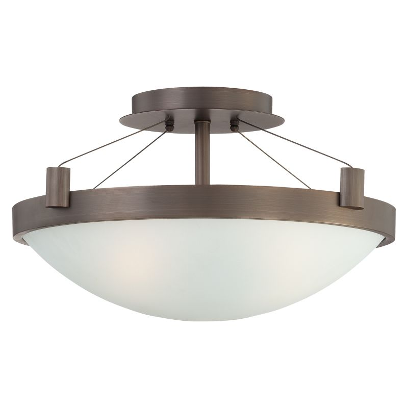 Kovacs P591 3 Light Semi-Flush Ceiling Fixture in Copper Bronze Patina