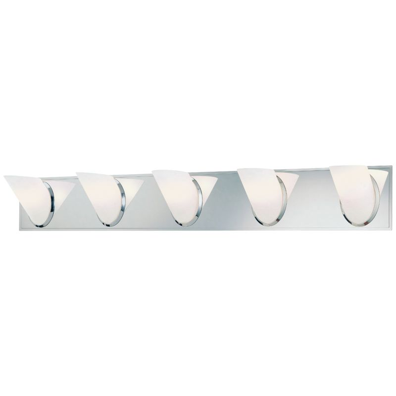 "Kovacs P5945 5 Light 37"" Bathroom Vanity Light from the Angle"