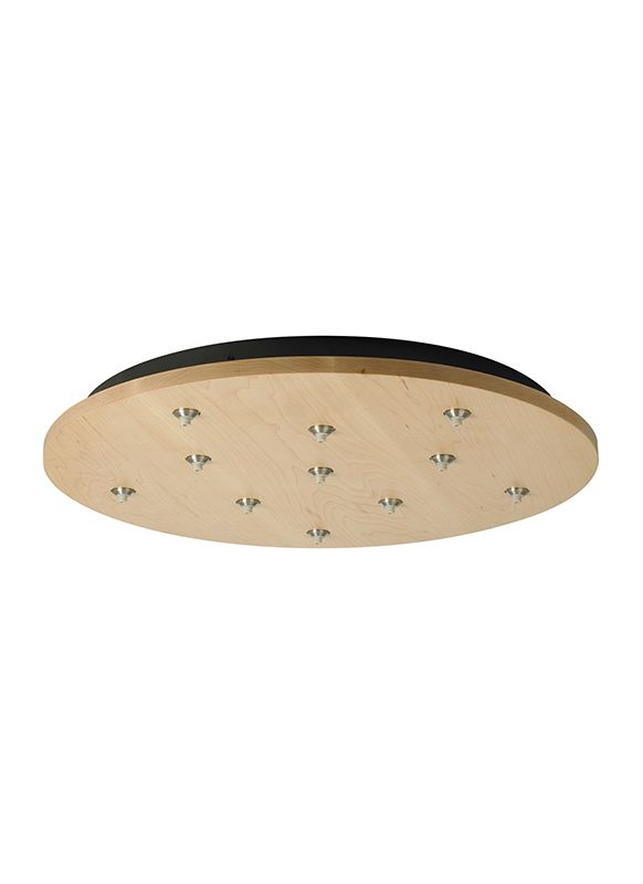 LBL Lighting 11 Light Round Fusion Jack Canopy Accessory Satin Nickel