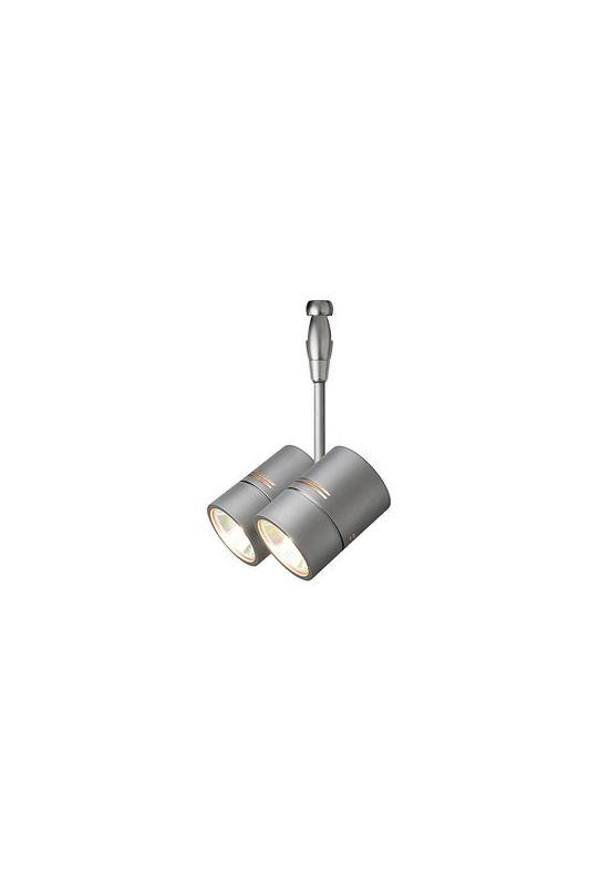 LBL Lighting HE382 FSJ Fusion Jack Twin Spot Swivel Head Satin Nickel