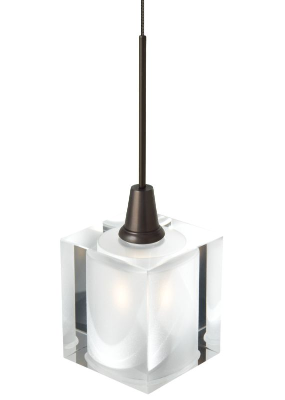 LBL Lighting Rocks Monopoint 1 Light Track Pendant Satin Nickel Indoor
