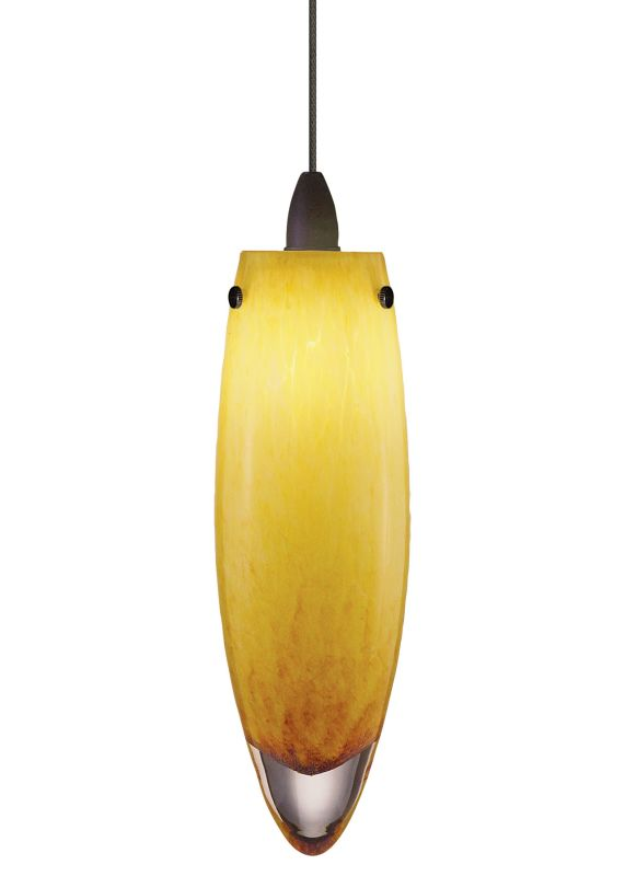 LBL Lighting Icicle Amber LED Fusion Jack 1 Light Track Pendant Satin