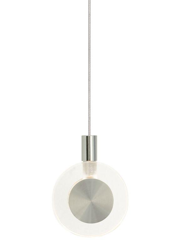 LBL Lighting Bling Clear Monopoint 1 Light Track Pendant Satin Nickel
