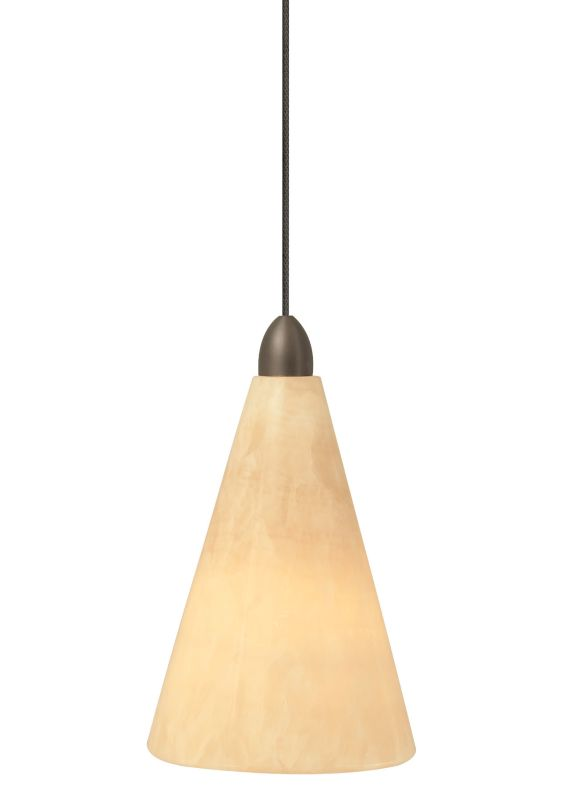 LBL Lighting Onyx Cone Fusion Jack 1 Light Track Pendant Satin Nickel