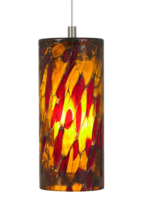 LBL Lighting Abbey Amber-Red 50W Monopoint 1 Light Track Pendant