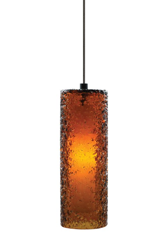 """LBL Lighting Mini Rock Candy C Dark Amber 50W Monorail 1 Light Mini Sale $285.60 ITEM: bci2040667 ID#:HS547AMBZ1BMRL UPC: 77073729473 LBL Lighting Mini Rock Candy C Dark Amber 50W Monorail 1 Light Mini Pendant Handmade from start to finish, this beautiful cylindrical Dark Amber Monorail pendant is created by talented craftspeople. Beginning with a mouth-blown transparent glass cylinder, the glass is then rolled in Dark Amber crystal frit, and finally flash heated to an extremely high temperature to create the unique texture on this stunning fixture. Enclosing a 50 watt xenon lamp creating a soft glow from the inside, this attractive fixture will add a sense of style to any home. LBL Lighting's Monorail is a versatile state-of-the-art track lighting system featuring hand bendable track in a variety of finishes to compliment any décor. The Monorail system is available in both ceiling mount or wall mount configurations for added flexibility. Monorail lighting pendants and heads are also compatible with LED Illuminated Monorail systems. LBL Lighting Mini Rock Candy C Dark Amber 50W Monorail Features: Track System: Monorail Pictured with Bronze finish Includes 72"""" of field-cuttable wire Cylinder shaped Dark Amber Mouth-Blown Glass shade LBL Lighting Mini Rock Candy C Dark Amber 50W Monorail Specifications: Includes (1) x 50 Watt GY6.35 Base Xenon Bulb Voltage: 12 Wattage: 50 Height: 10.2"""" Diameter: 3.6"""" Shade Height: 10.2"""" Shade Width: 3.6"""" Maximum Overall Height: 82.2"""" Compatibility: Monorail and LED Illuminated Monorail UL Listed for Dry Location LBL Lighting Mini Rock Candy C Dark Amber 50W Monorail Lamping Specifications: Rated Hours: 10000 CRI: 100 Color Temperature: 2900K Lumens: 750 For 38 years, LBL Lighting has built their business on trust. Since its inception as a family business in 1971 LBL Lighting has continued to be one of the recognized leaders of the lighting industry and a premier choice for lighting designers throughout North America. Developed with be"""