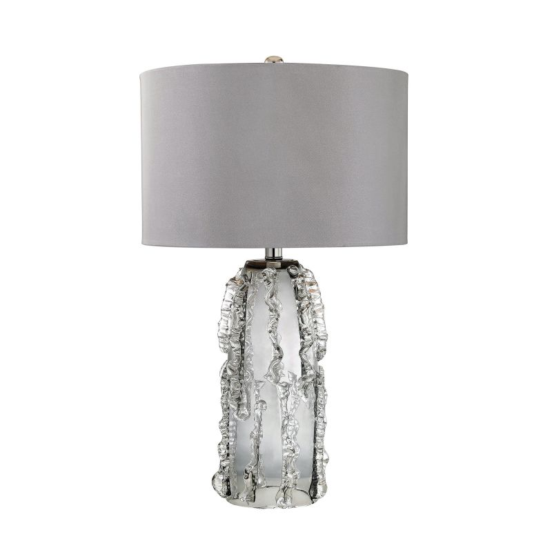 "Lamp Works D2917 Palais 1 Light 27"" Tall Table Lamp with Grey Fabric"