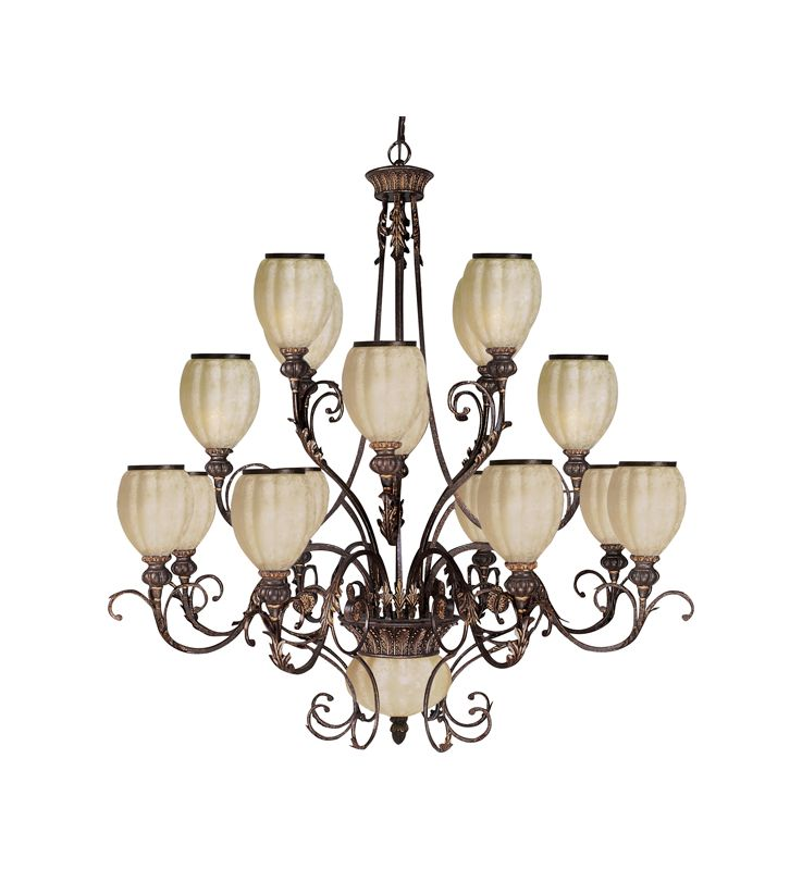 Landmark Lighting 328-GC-G Eighteen Light Chandelier from the