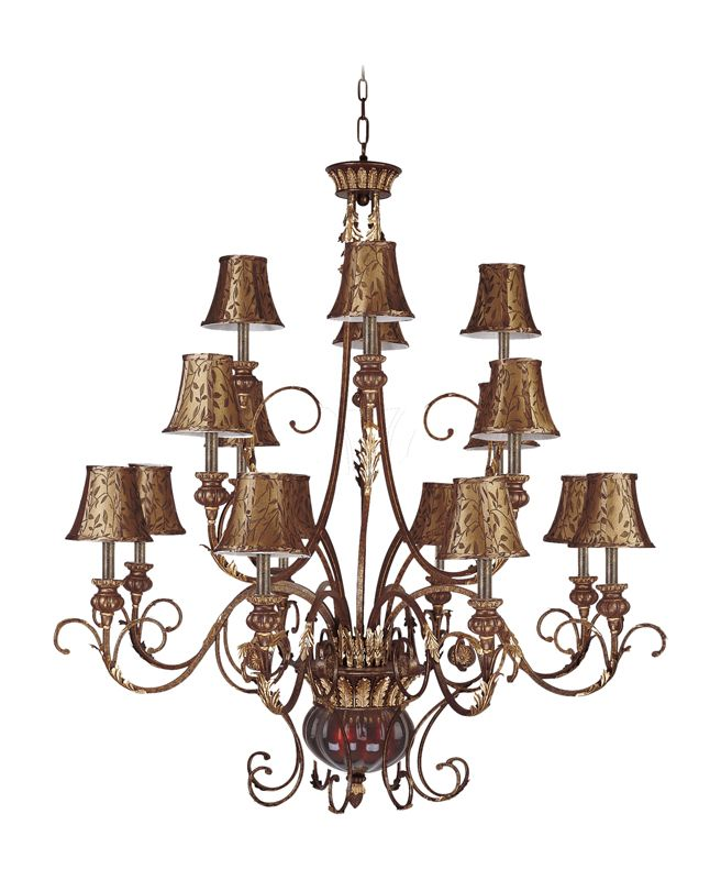 Landmark Lighting 328-GC-SH13 Eighteen Light Chandelier from the