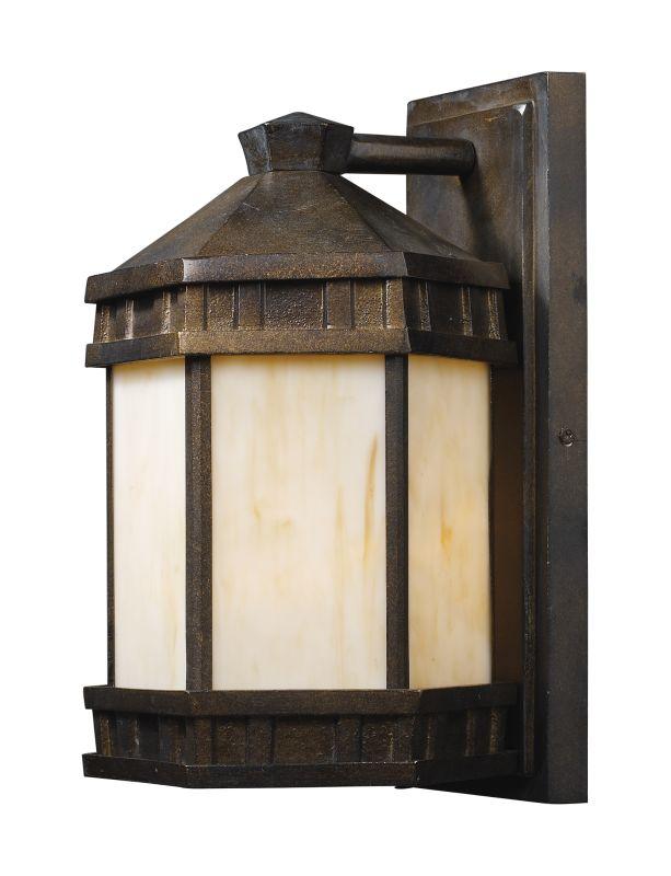Landmark Lighting 64021 Mission Abbey 1 Light Outdoor Wall Mount In