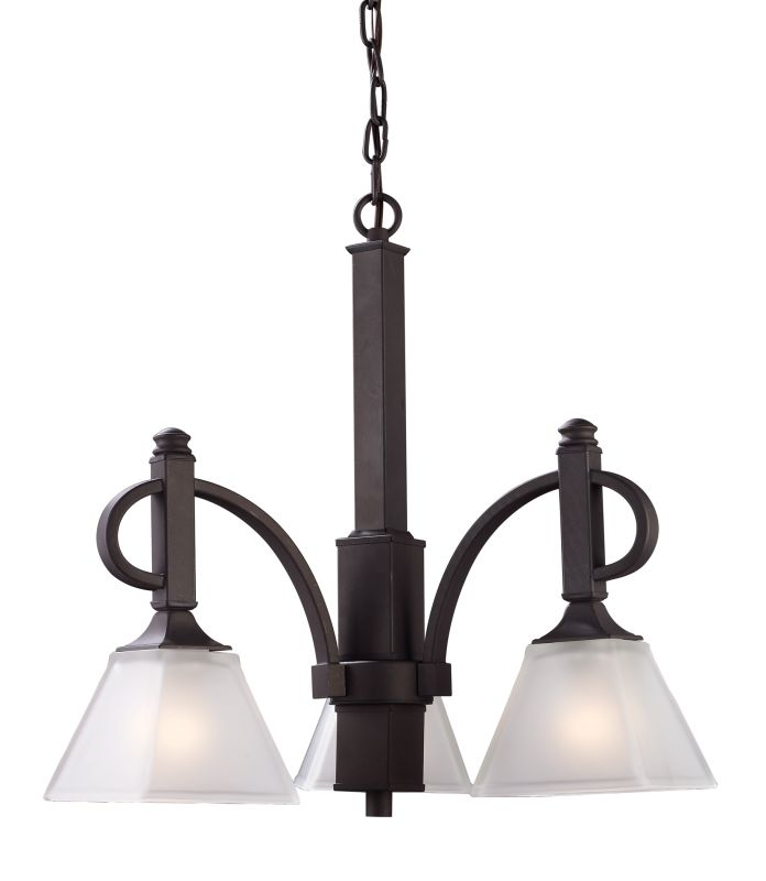 Landmark Lighting 69013 Fremont 3 Light Chandelier In Oiled Bronze