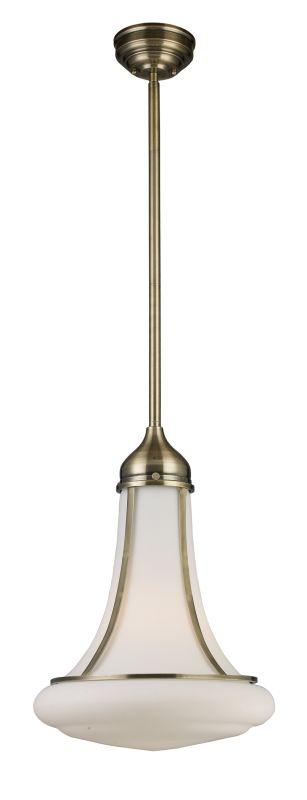Landmark Lighting 69035 School House 1 Light Pendant In Antique Brass