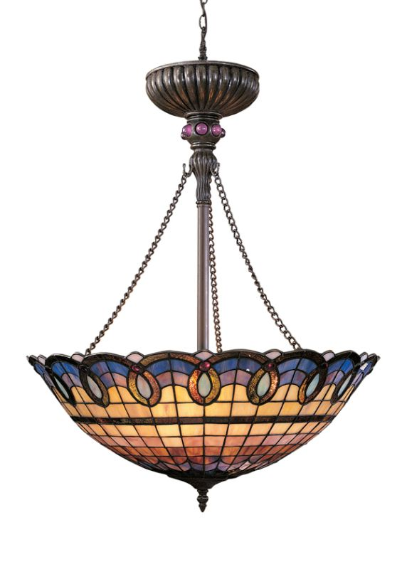 Landmark Lighting 692 Tiffany Three Light Down Lighting Bowl Pendant