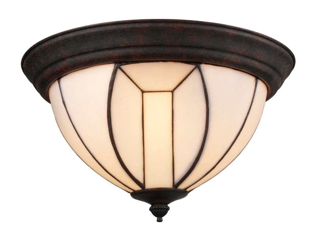 Landmark Lighting 70035 Dimensions 3 Light Flush Mount In Burnished