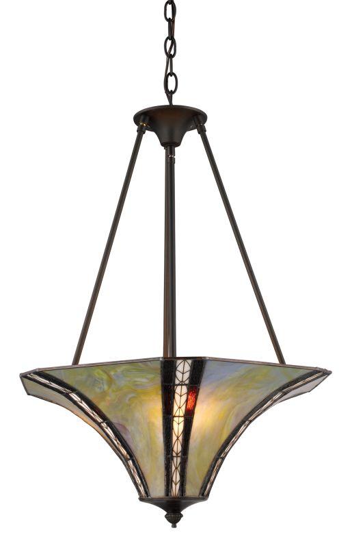 Landmark Lighting 70069 Julliette 3 Light Pendant In Tiffany Bronze