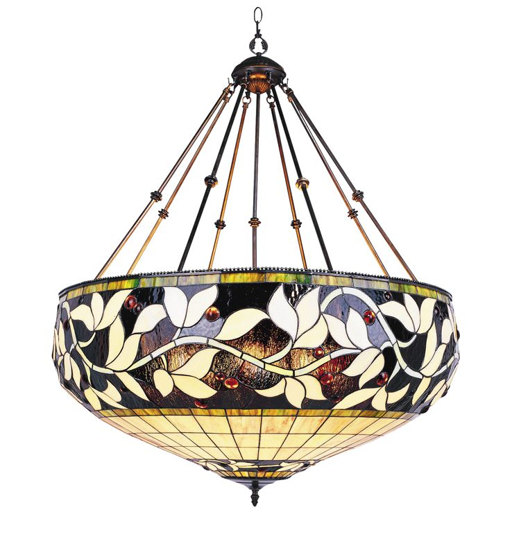 Landmark Lighting 710 Tiffany Six Light Bowl Pendant from the English
