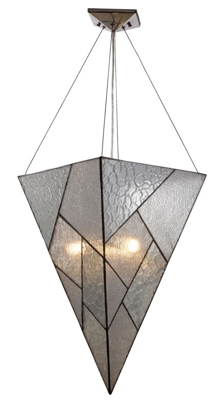 Landmark Lighting 72036 Prism 4 Light Pendant In Polished Chrome From