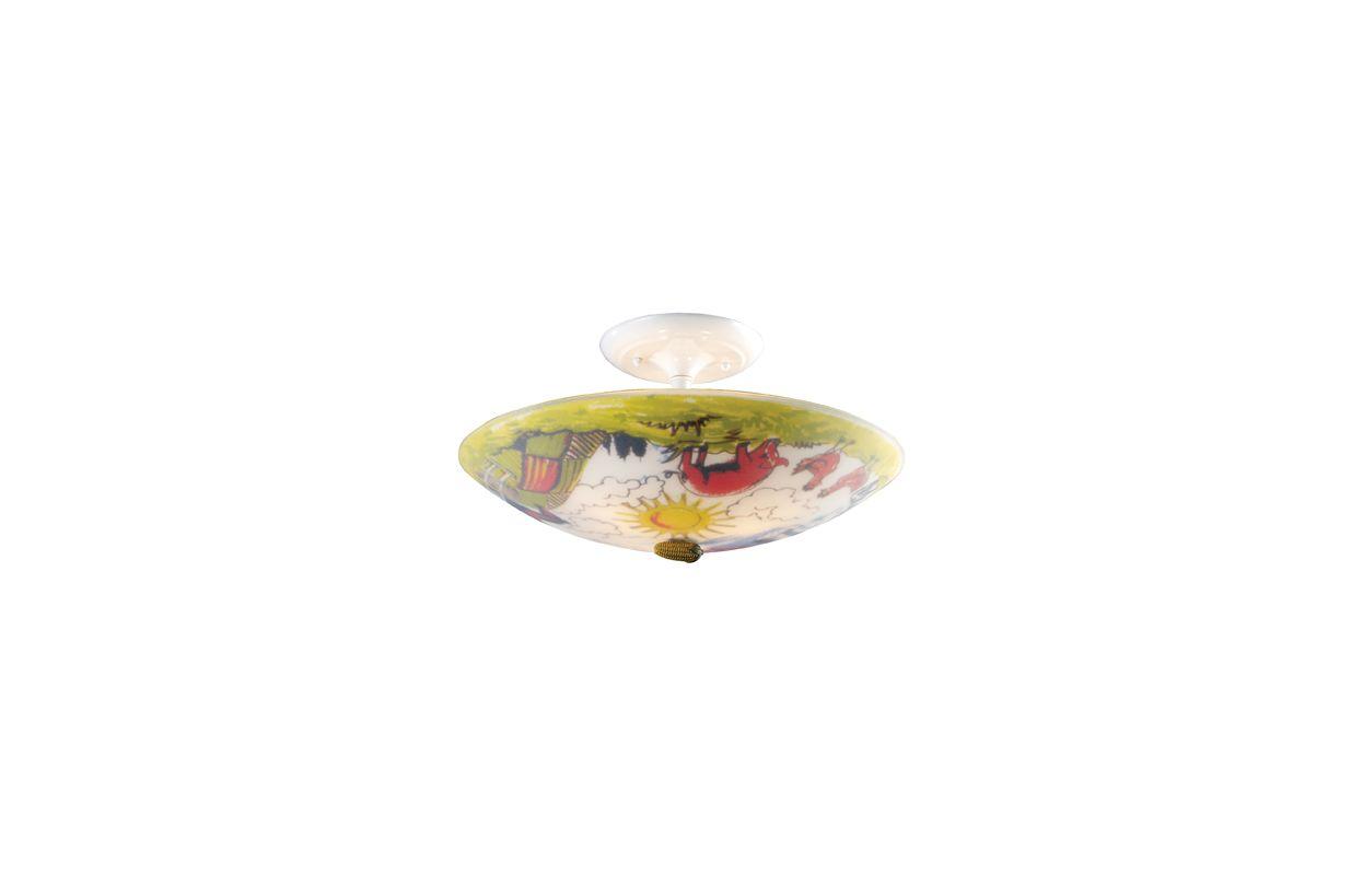 Landmark Lighting 66403-3 Kids / Youth 3 Light Up Lighting Flushmount