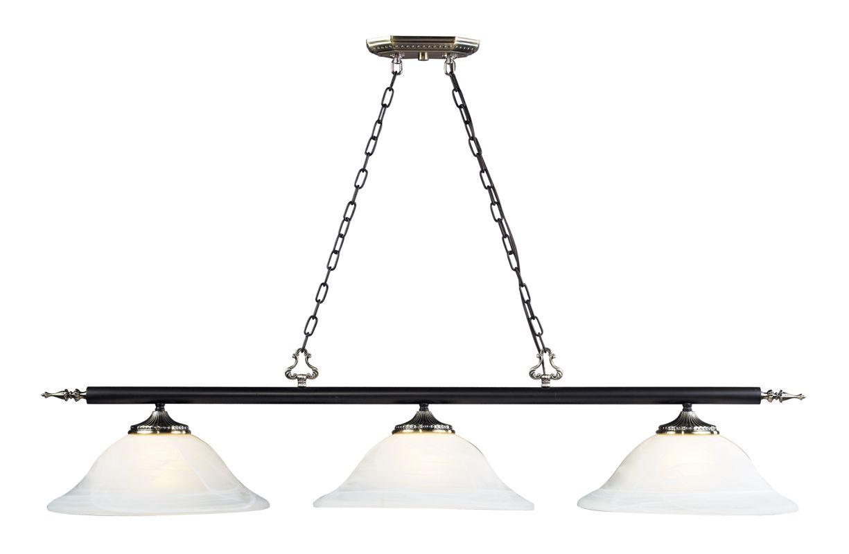 Landmark Lighting 63005-3 3 Light Island / Billiard Fixture from the