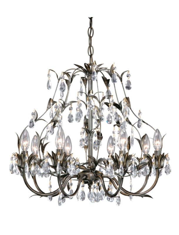 Laura Ashley HLVH0884 Architectural Bronze Lavenham 8 Light Chandelier - LightingDirect.com