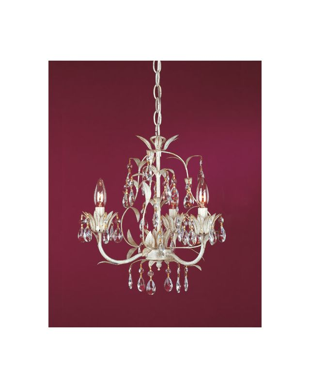 Laura Ashley MLVH0373 Gilded Patina Lavenham 3 Light Mini Chandelier - LightingDirect.com