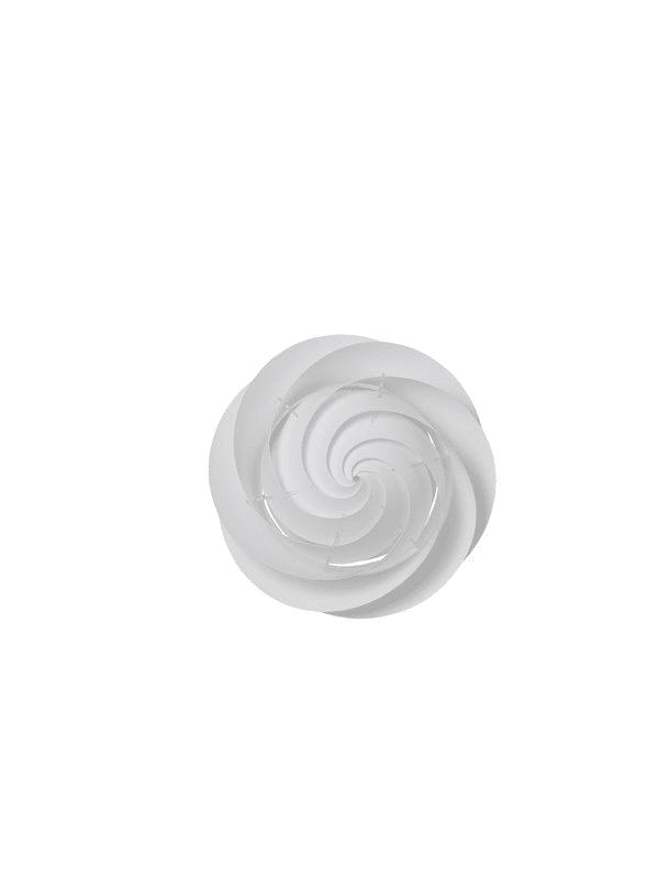 "Le Klint 1320S Swirl 15"" Wide 2 Light Single Wall Sconce with Hand"