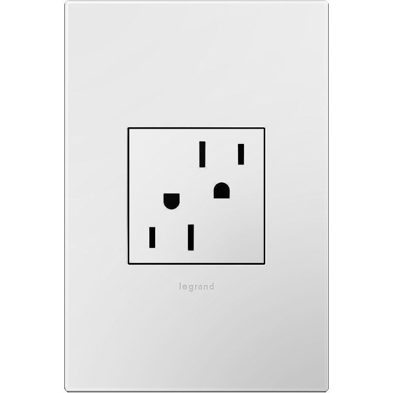 Legrand AKT0010 Adorne Tamper-Resistant Outlet with Gloss White 1-Gang