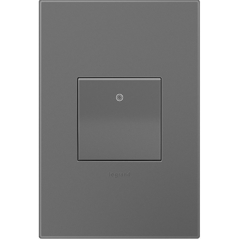 Legrand AKT0021 Adorne Paddle Switch with Magnesium 1-Gang Wall Plate