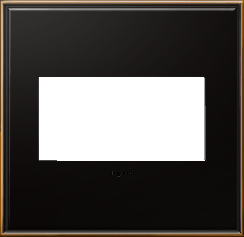 Legrand AWC2GOB4 adorne 2 Gang Metal Wall Plate - 6.56 Inches Wide